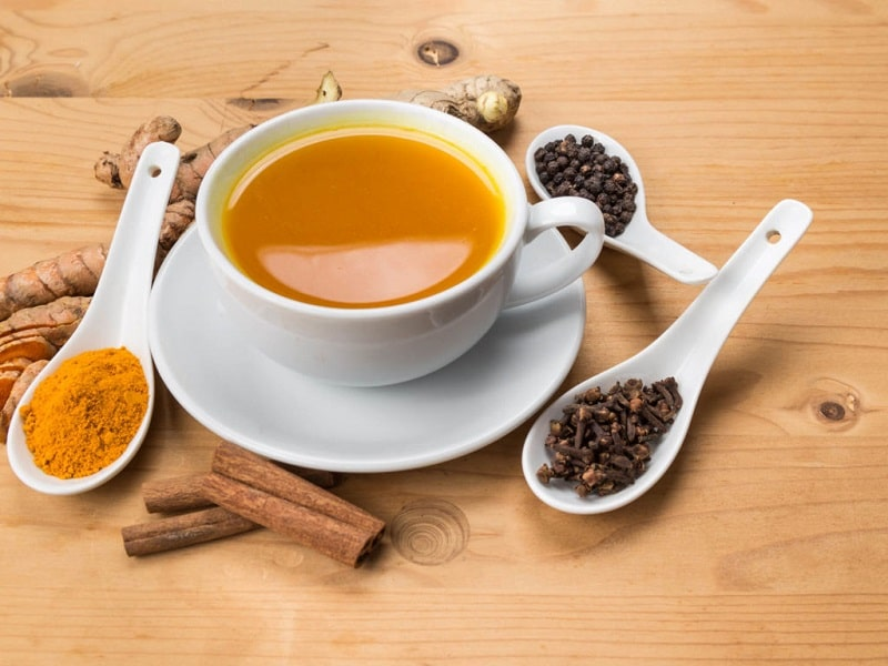 Turmeric tea drinks for immunity boost