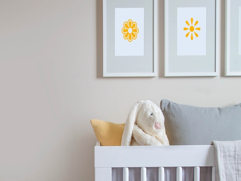 baby's room colour plate full of delight