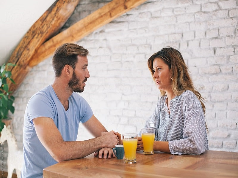 couple talking on building relationship