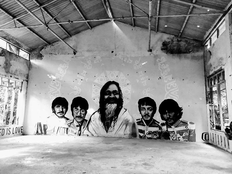 Beatles Ashram Rishikesh plate full of delight