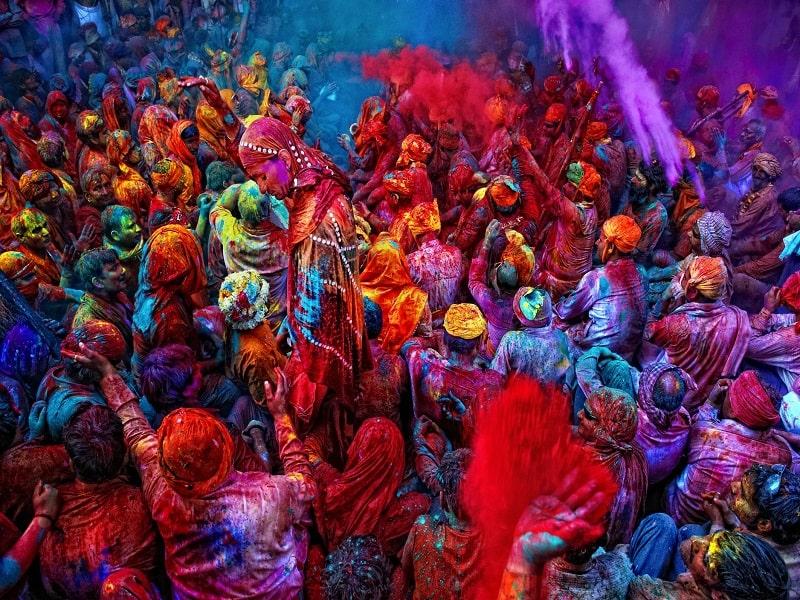 Royal Holi celebration in Rajasthan India