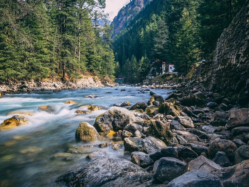 Parvati river kasol