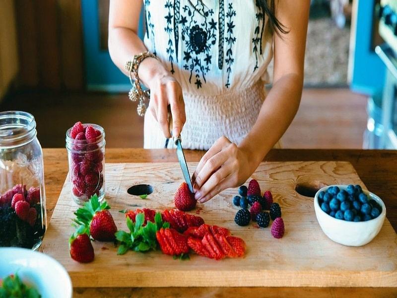 Strawberries for morning breakfast
