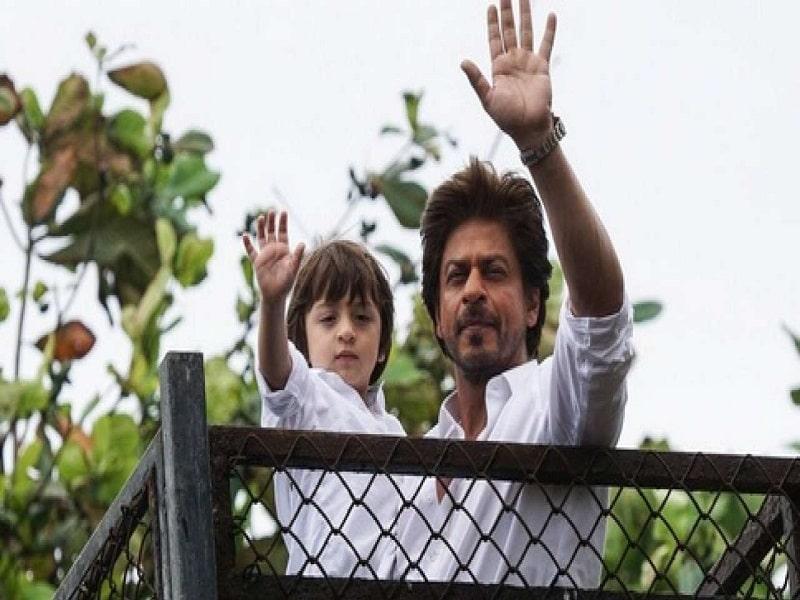 SRK with Abhram